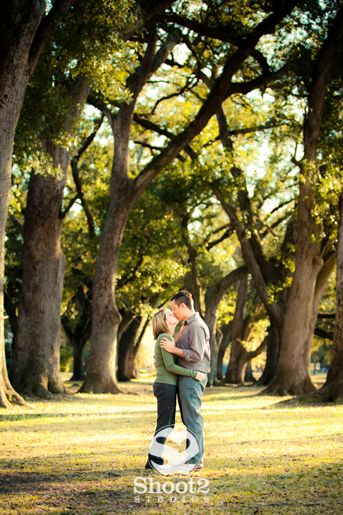 oak treeks engagement session