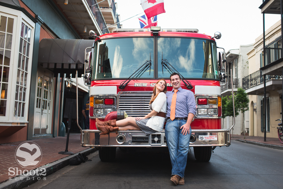 firetruck engagement picture
