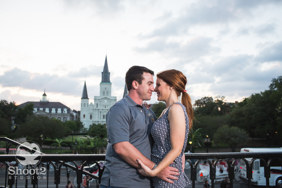 st. louis cathedral engagement picture