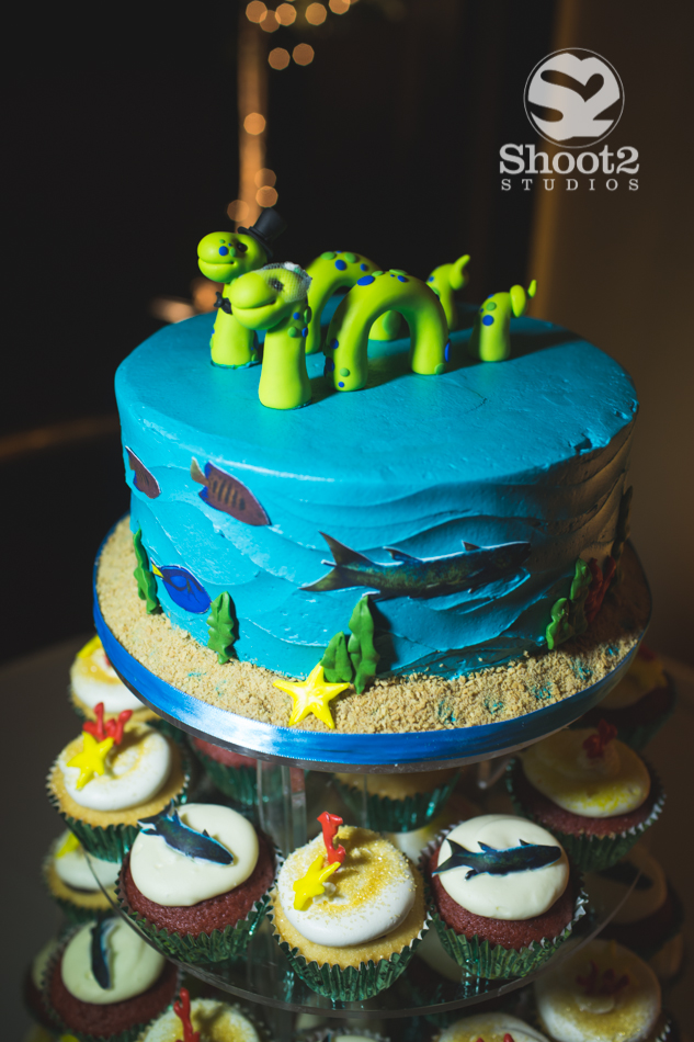 fish wedding cake