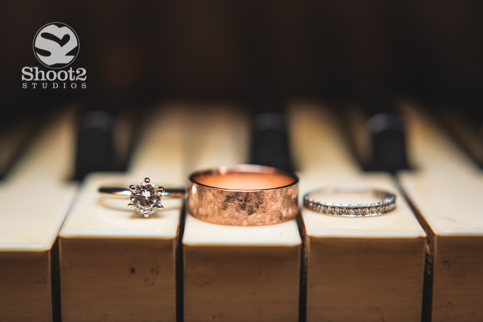 piano wedding rings