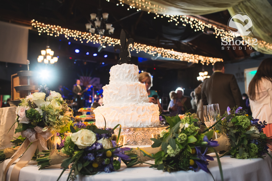 wedding cake at southport music hall