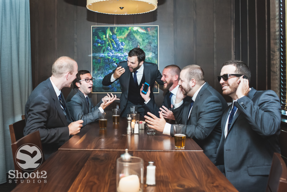 groomsmen in the boardroom