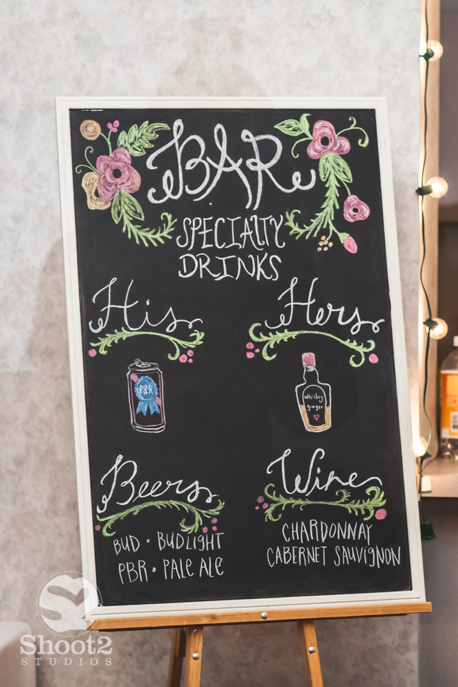 wedding drink menu