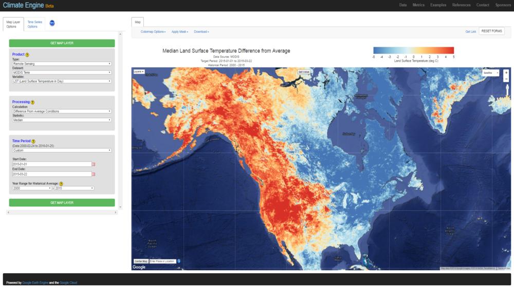 western north america warm spell 2015