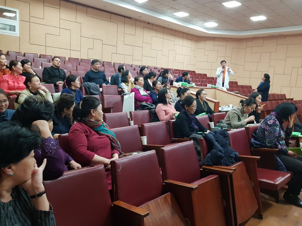 Mongolia STREAM Trial team shares results with the National TB Program and district MDR-TB staff.