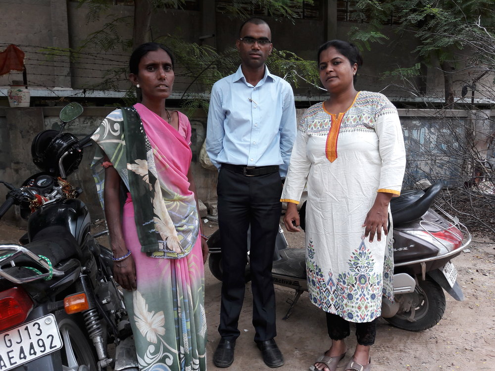 STREAM CAB members visit trial participants in Ahmedabad.