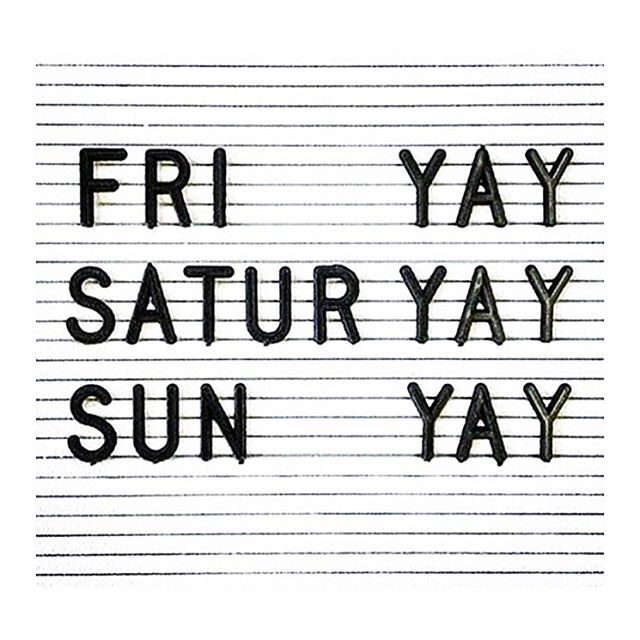 It's been a long week... #YAY for the #weekend 🙌🏼
