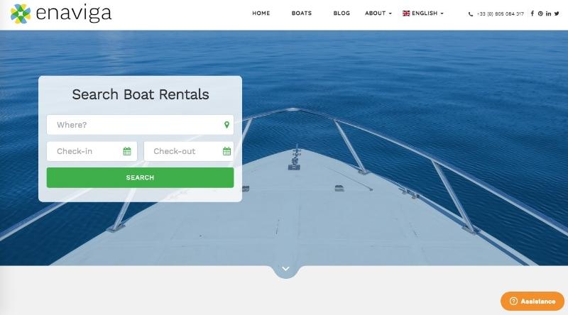 Enaviga.com réservation de voiliers en ligne