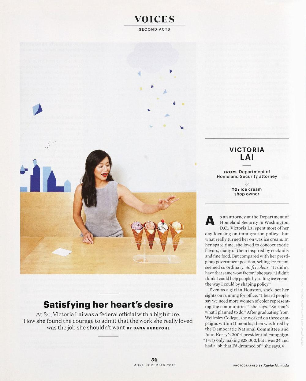 Victoria Lai/Second Acts - MORE Magazine