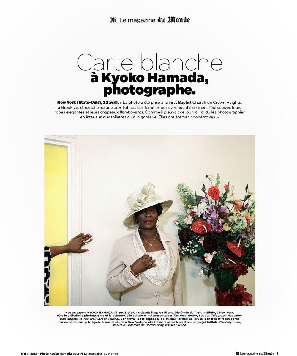 Baptist Church Woman/Carte blanche - Le Monde