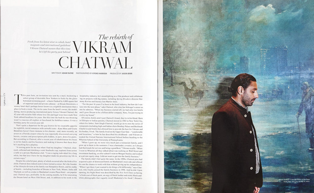 The Rebirth of Vikram Chatwal - DuJour Magazine