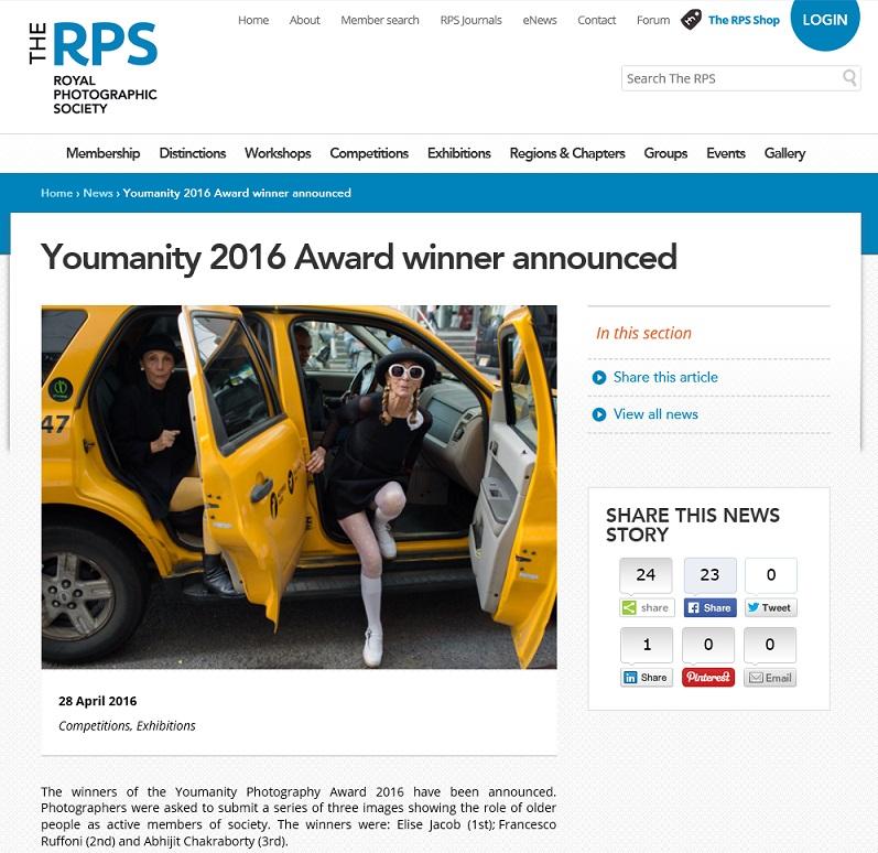 Youmanity 2016 Award winner announced