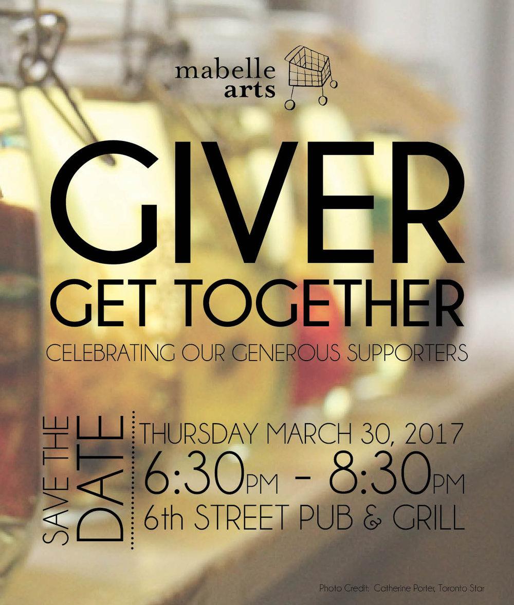 Giver Get Together Banner