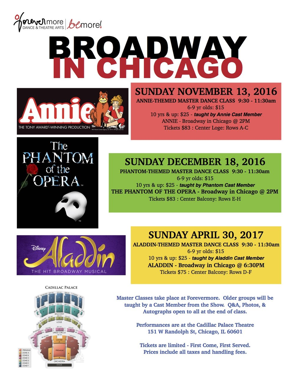 Broadway in Chicago performances
