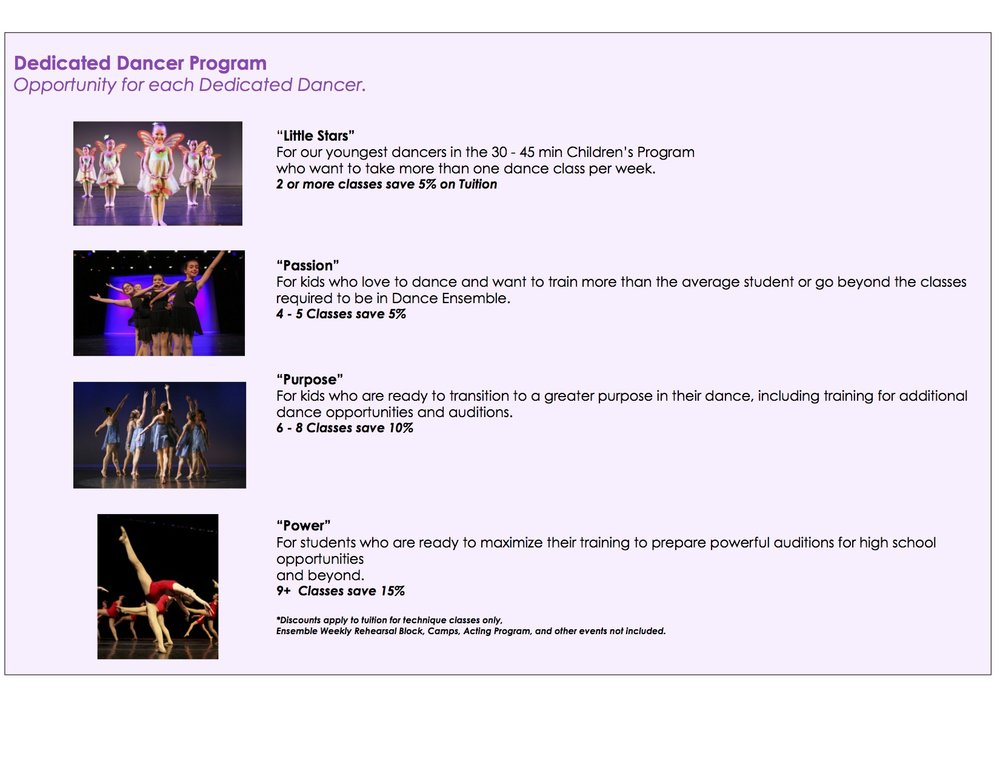 Dedicated dancer program