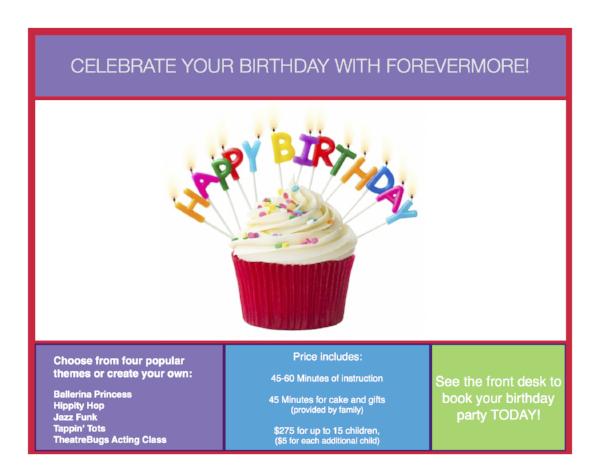 celebrate your birthday with forevermore