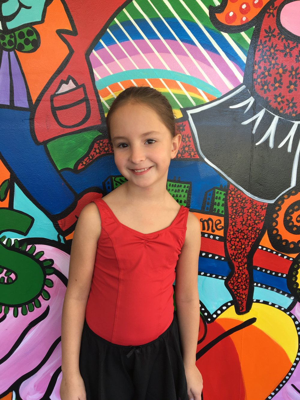 Laina Ligamari's favorite style of dance is salsa and modern. When she grows up she wants to be a singer. She loves reading and the color black. She believes dancing at Forevermore is a great learning experience. A fun fact about Laina is that she can burp the alphabet.