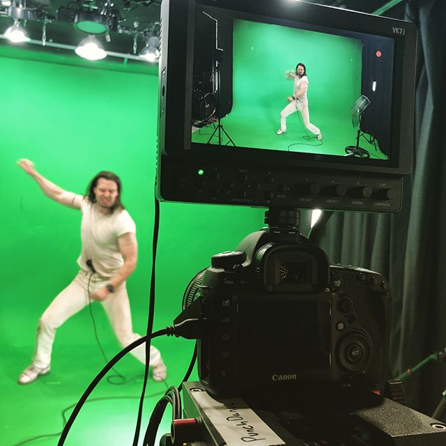 """Here are some behind the scenes pics from our music video for @andrewwk """"Music Is Worth Living For."""" Filmed at our studio #thedoghouseeast in Waltham, MA. #andrewwk #bts"""