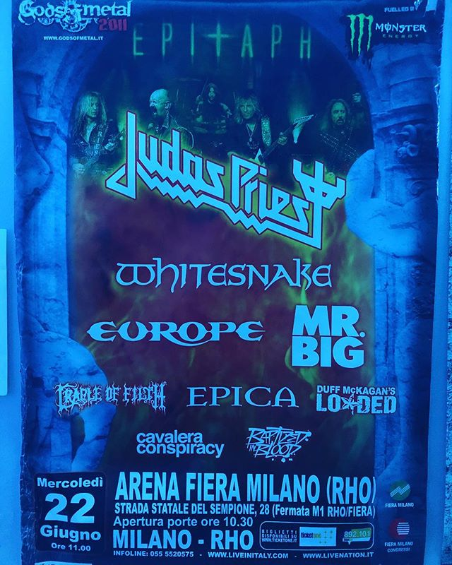 Festival season is soon. #tbt European tour with @officialduffmckagan. #duffmckagansloaded #judaspriest #europe