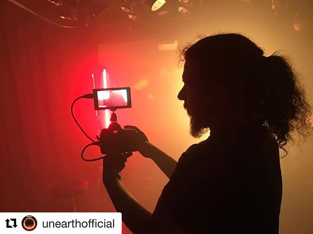 """Good times shooting 2 music videos this weekend for @unearthofficial. New album out soon on @centurymedia. #metal  Repost @unearthofficial ・・・ Video shoot is in session for our soon to be released track """"One With The Sun"""" off our upcoming album 'Extinction(s)'. Thanks to @timdennesen @frankpinojr @jarvistkd of @punchdanceinc for the shoot."""