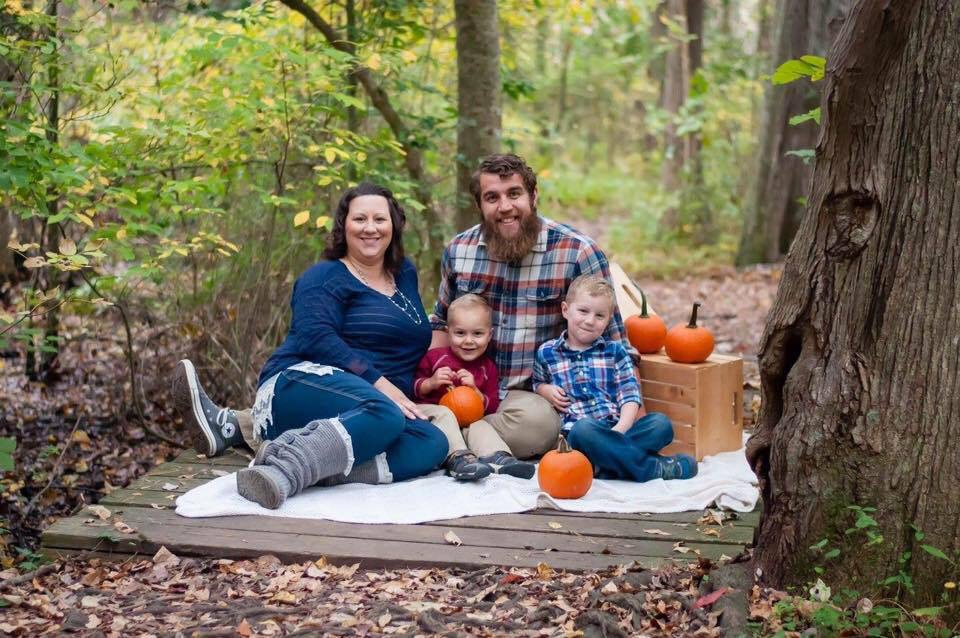 terri goslee with her husband and two sons