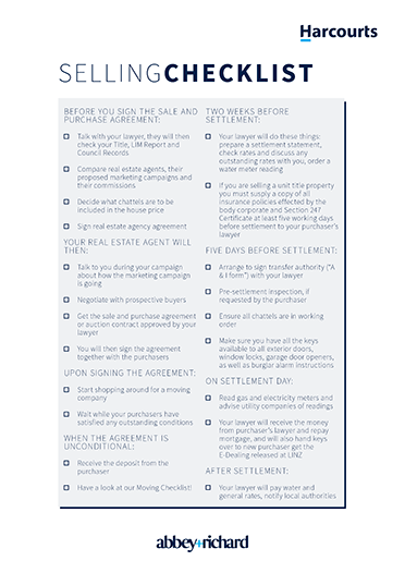selling property checklist