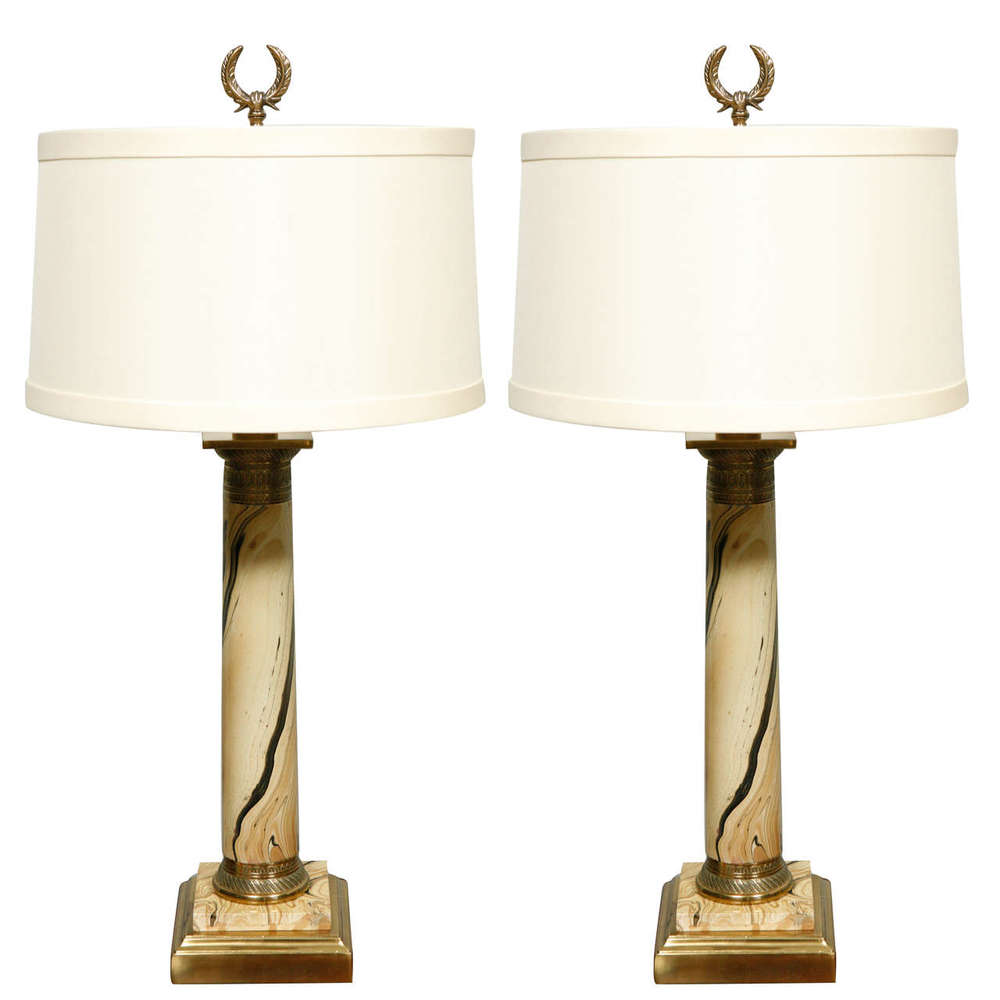 Ordinaire Pair Of 1920u0027s French Table Lamps