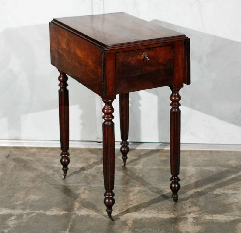 Lovely ON HOLD: Antique Mahogany Federal Side Table