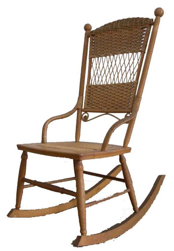 Wicker Rocking Chair. 701112011_chair_rocking_hwkfld