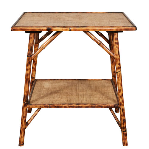 Jw Custom Line Tiger Bamboo Side Table Jefferson West Inc