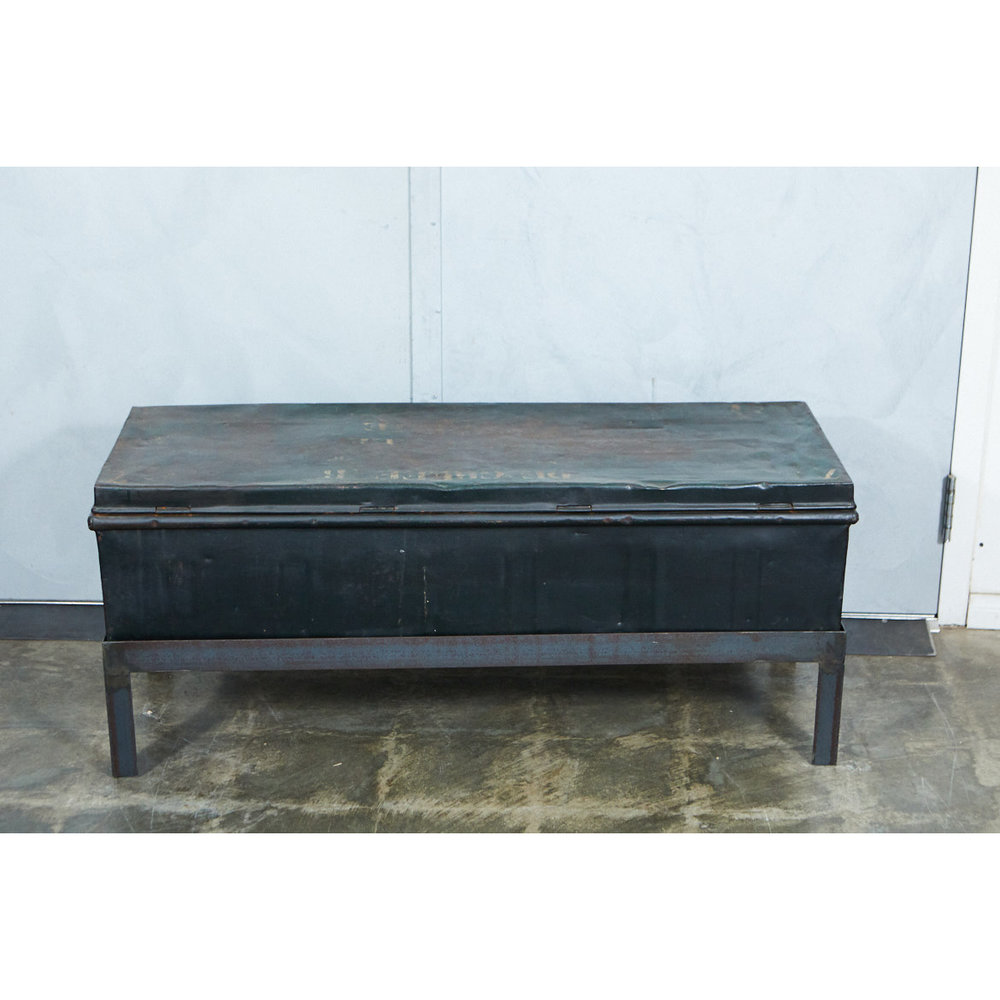 Belgian Military Trunk Into Coffee Table