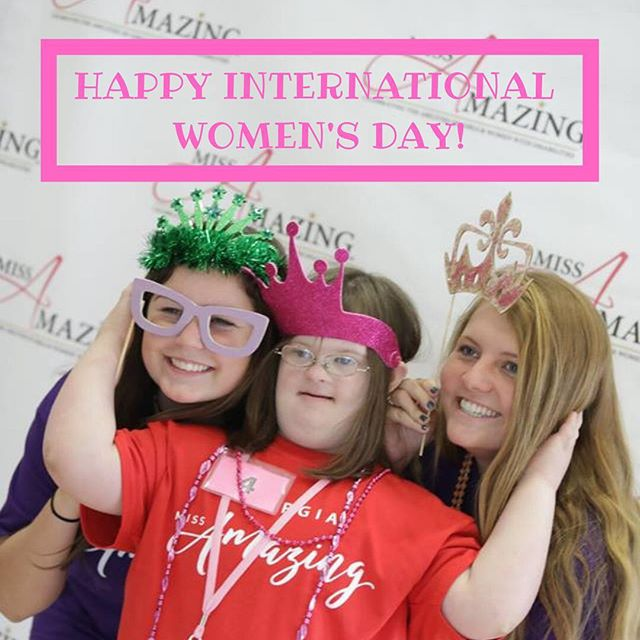 Happy International Women's Day from us here at Georgia Miss Amazing! We are so grateful to work with so many strong, kind, joyful, capable, independent, *amazing* women!