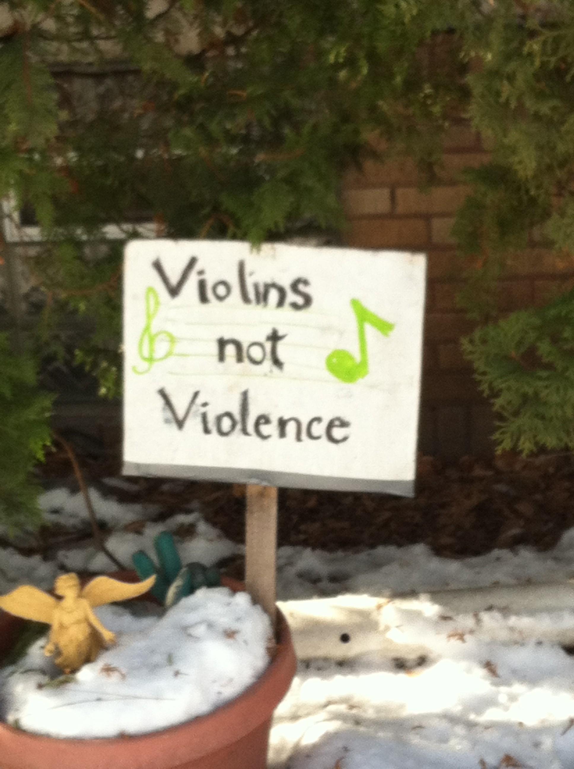 violins not violence