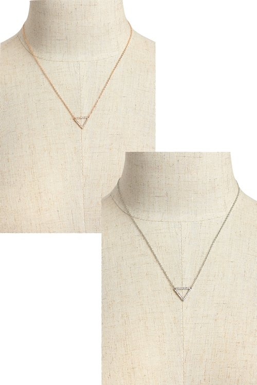 wholesale yiwuproducts chain gold link pendant necklace zoom triangle
