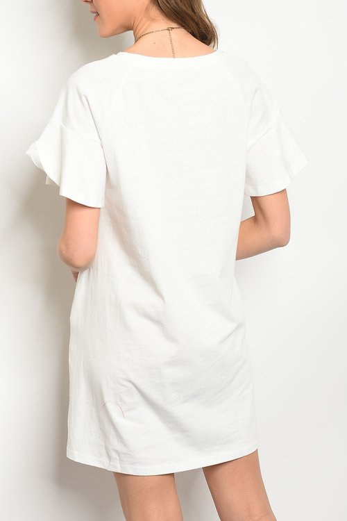224c27baf4dc White Tee Dress — FROCK Shop
