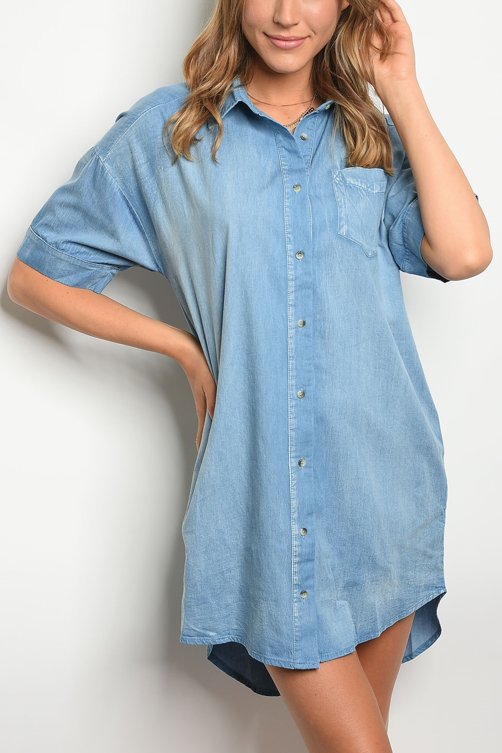 Surplus Denim Shirt Dress Frock Shop