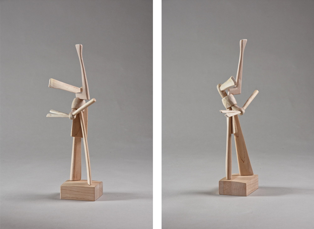 Figure,  13 inches, maple, 2015