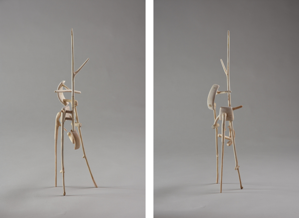 Tripod III,  15 inches, maple, 2015