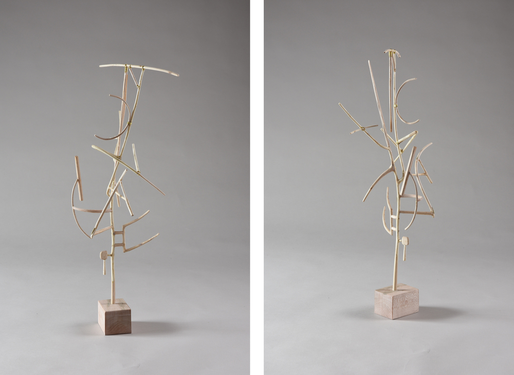 Open Shapes,  19 1/4 inches, maple, 2015