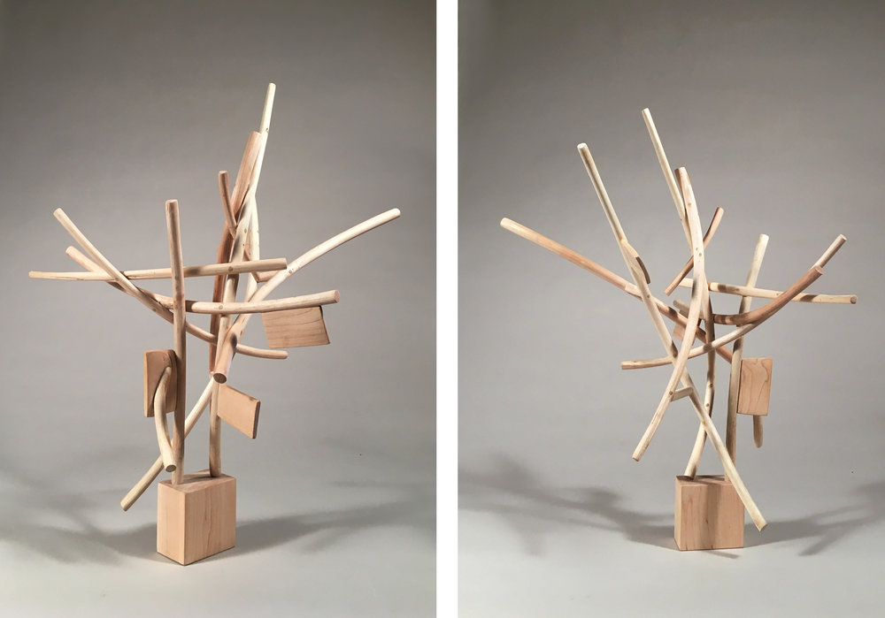 Welter,  21 inches, maple, 2017