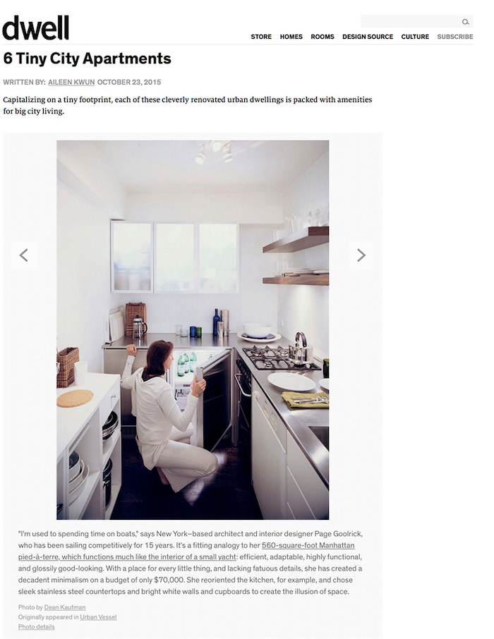 <html>Dwell<p> 6 Tiny City Apartments</html>
