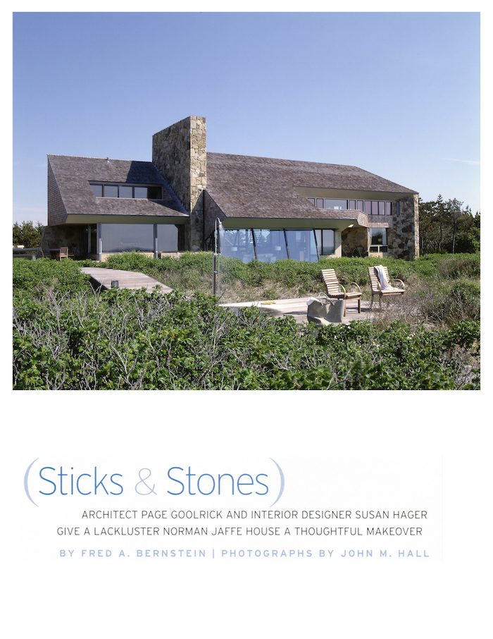 <html>Hamptons Cottages & Gardens<p>Sticks and Stones</html>