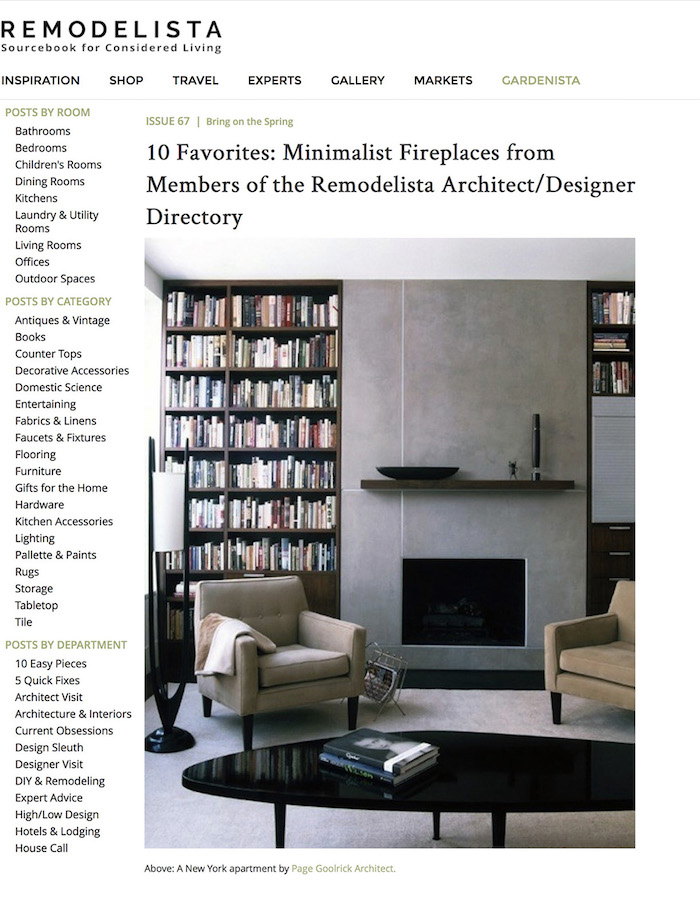 <html>Remodelista<p>Minimalist Fireplaces</html>
