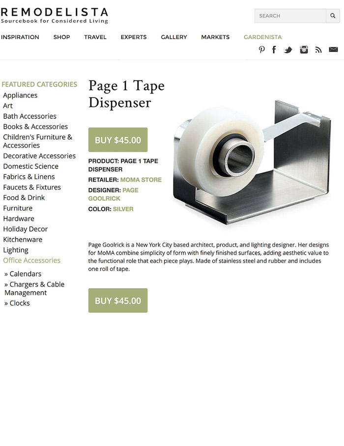 <html>Remodelista<p>Page 1 Tape Dispenser</html>