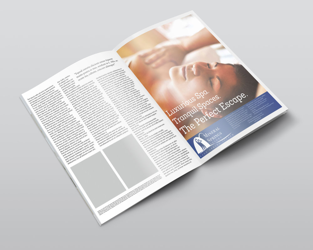 This is an example of how the advertisements can be applied in a printed publication.