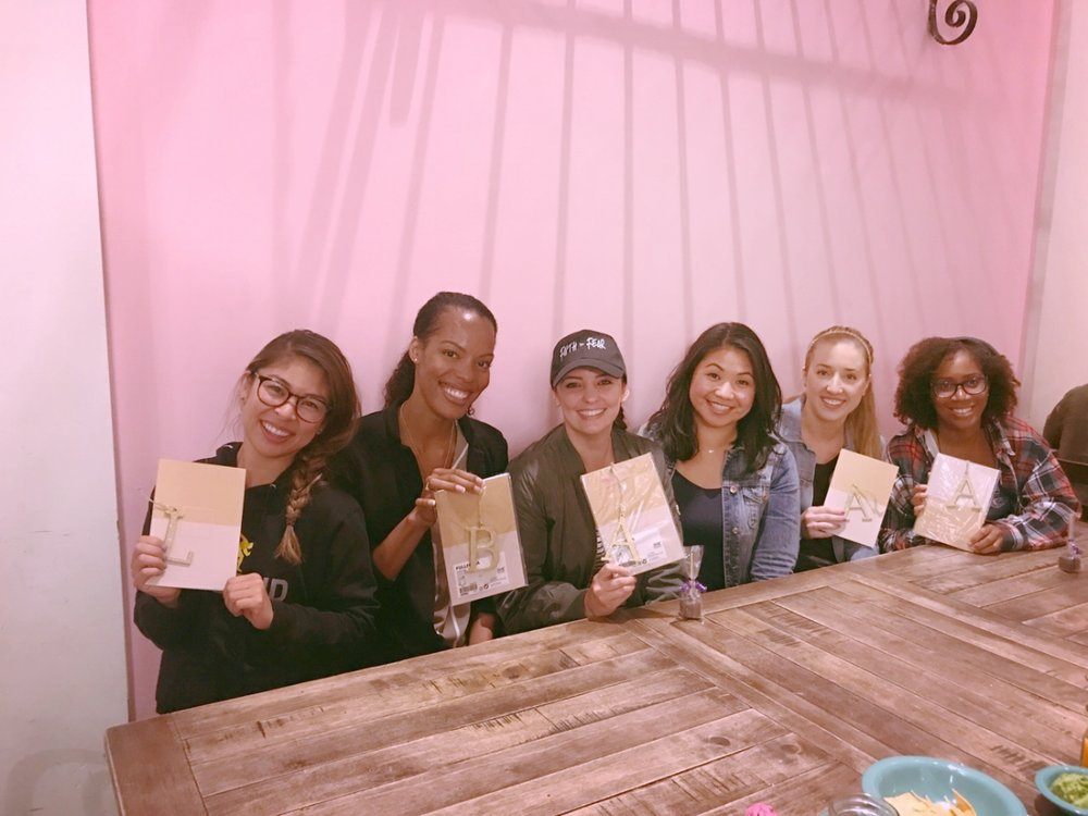 Jenae lead this series and during our wrap up dinner she gave us all notebooks with our initials attached. Such a sweet gift from a sweet friend.