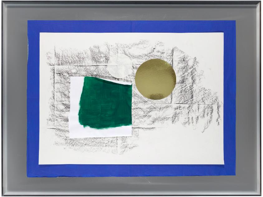 Joelle Tuerlinckx, Surcollage d'atelier #1 - série paléolithique, Surcollage d'atelier #1 - série Frottage-sol 'Galerie nächst St.Stephan Rosemarie Schwarzwälder' 2008-2016 ,