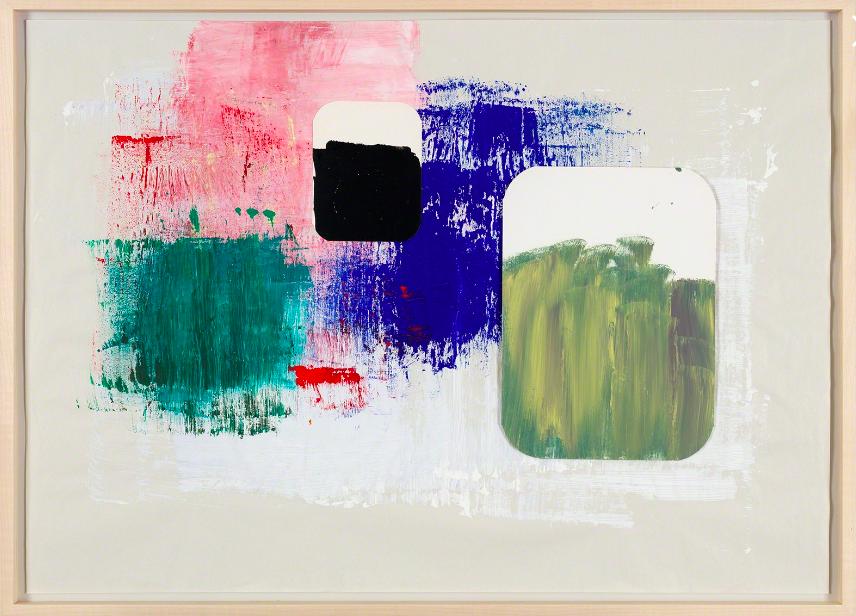 Joelle Tuerlinckx, Brossage moderniste -série journal abstrait (3) , 2017.