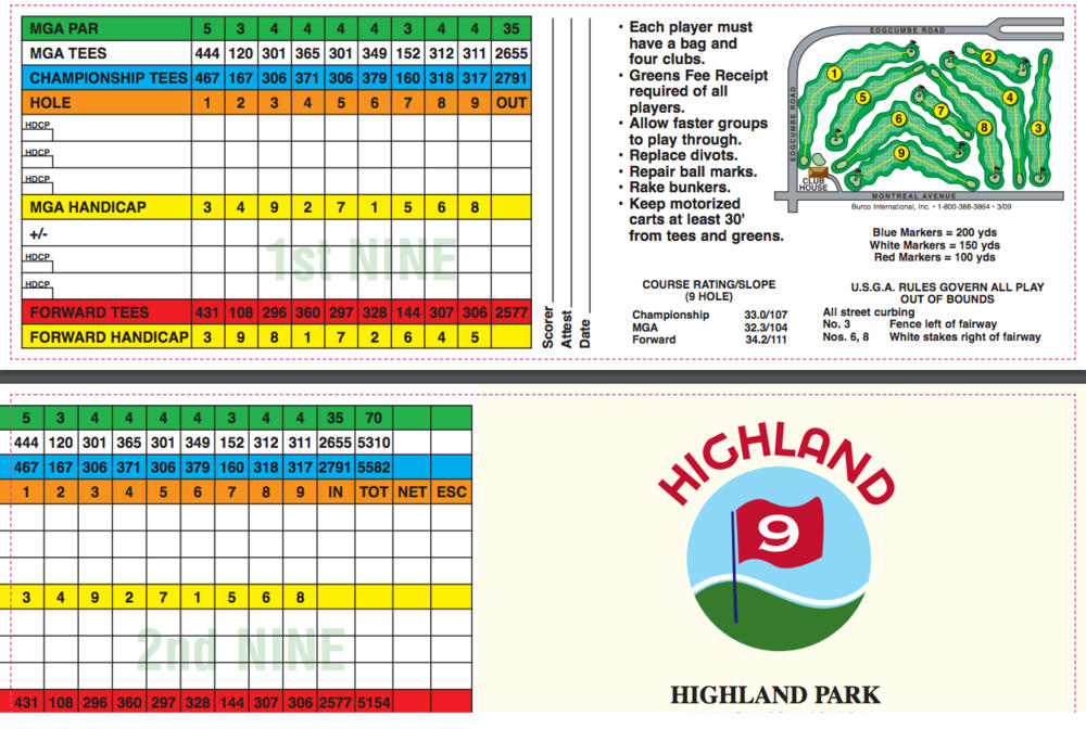 Highland 9 Hole Gc St Paul Golf